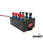 Régua Distribuidora de alimentação com circuito de proteção sobre tensão para radioamador radio px som automotivo alarme CFTV diversos 105 copy