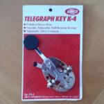 Manipualdor Batedor Pica Pau de metal CW Key telegrafo telegrafia AMECO Modelo K4 01 copy