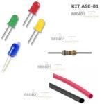kit ASE 01 led resistor 680 termo retrati radio1 loja propagação aberta 1