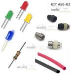 kit ASE 02 led suporte resistor termo retrati radio1 loja propagação aberta