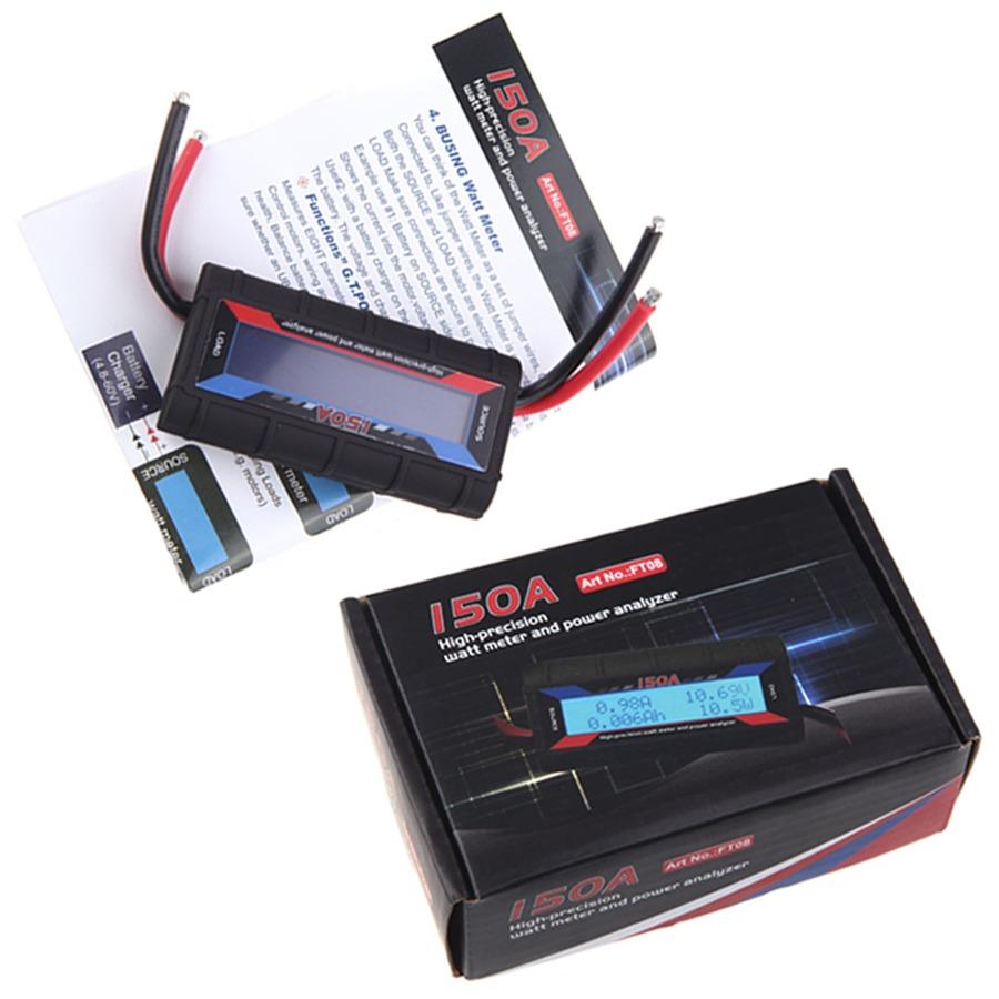 Medidor Watimetro Voltimetro Amperimetro LCD Iluminado 0V a 60V X 150A